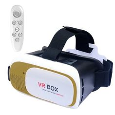e58890066f7d Buy VR Box Plus 3D Virtual Reality Glasses (Gold) With VR PARK Portable  Wireless Bluetooth 3.0 Remote Controller (White) online at Lazada.