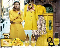 """Elegant yellow look"" by juliaromanova ❤ liked on Polyvore"