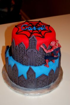 another spiderman cake idea