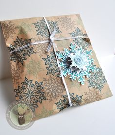 Festive Flurry Gift Wrap Set For My handmade greeting cards visit me at My Personal blog: http://stampingwithbibiana.blogspot.com/