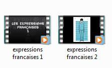 2 diaporamas sur les expressions françaises.