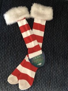d91a84da7aa Christmas Holiday Socks With Faux Fur Trim  fashion  clothing  shoes   accessories