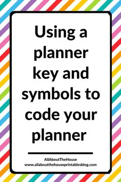 bullet journal key ideas using symbols for planning effective method quick fast rapid log color coding alternative organized http://www.allaboutthehouseprintablesblog.com/using-a-planner-key-and-symbols-to-code-your-planner-efficient-planning-methods/