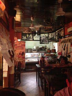 La Fraschetta di Castel Sant'Angelo in Roma, Lazio - Via del Banco di Santo Spirito, 20. Oh: +39 06 68307661) is open or lunch and dinner daily except for Sunday's. Bookings are recommended.