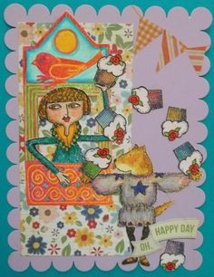Rubbermoon stamps, scrapbook papers