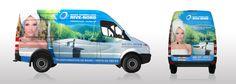 Pour l'entreprise Bains Tourbillons Rive-Nord, nous avons fait la conception et la production du lettrage de leur camion, un Mercedes Sprinter.