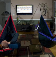 """Ruddell Ledford knows how to hammock indoors! #InteriorDesign Use discount code """"PINME"""" for 40% off all hammocks on maderaoutdoor.com"""