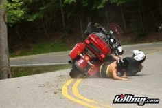 A good reason to wear protective clothing when riding, especially the Tail of the Dragon.
