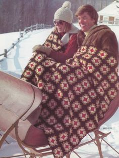 Afghan-Album-by-Bernat-Crochet-amp-Knit-Pattern-Book-No-237-Eleven-Vintage-Designs