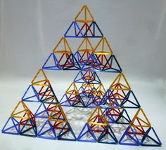 Sierpinski Tetrahedron by Bih-Yaw Jin Geometric Star, Principles Of Design, Sacred Geometry, Paper Art, Diy And Crafts, Projects To Try, Art Gallery, Sculpture, Creative