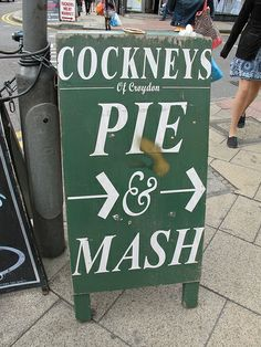 Pie & Mash - traditional East End food