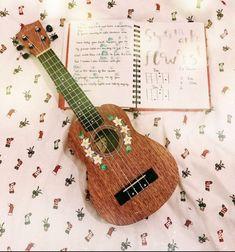 Guitar Painting, Guitar Art, Music Guitar, Playing Guitar, Violin, Arte Do Ukulele, Ukulele Songs, Ukulele Chords, Luna Ukulele
