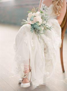 Stunning Claire Pettibone #dress Photography: Chris Isham - chrisishamphotography.com/blog  Read More: http://www.stylemepretty.com/2014/06/06/bridal-warehouse-shoot-wiup/