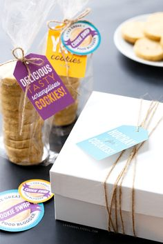 Cookie Swap Printable Gift Tags, Labels, and Stickers