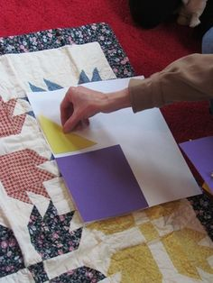 Paper Quilting: neat idea for a craft program for little ones.