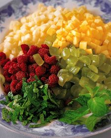 Martha Stewart's Diced Fresh Fruit Salad. Experiment with different kinds of fruit, depending on the season and your tastes.