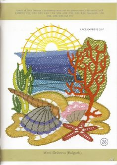 Lace Express 2007-02 - Isabel Delgado - Picasa Albums Web Bobbin Lace Patterns, Lacemaking, Point Lace, Crochet Art, Wool Yarn, Crochet Earrings, Projects To Try, Cross Stitch, Weaving