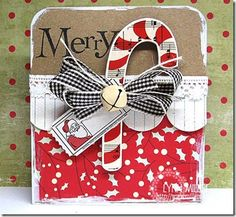 Love this candy cane card! by lorie Love this candy cane card! by lorie Noel Christmas, Handmade Christmas, Christmas Crafts, Christmas Paper, Christmas Wishes, Christmas Ideas, Yule, Xmas Cards, Holiday Cards