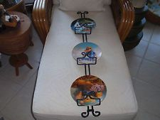 Longaberger Wrought Iron Two Tier Pie Plate Holder Rack Full Size ...