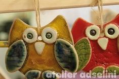 Ton, Glasur, Anhänger Christmas Ornaments, Holiday Decor, Home Decor, Owl, Clay, Painting Art, Do Crafts, Decoration Home, Room Decor