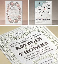 Minted's Letterpress Wedding Invitations