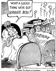"""Dr. Suess used to draw political cartoons as well"""
