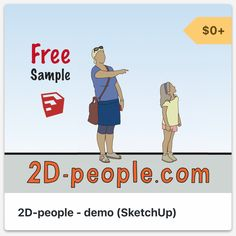 SketchUp people - scale figures for your design projects! Design Projects, 2d, Your Design, Free People, Scale, Family Guy, Fictional Characters, Weighing Scale, Fantasy Characters