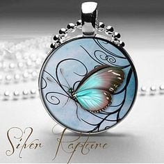 Butterfly Necklace, Butterfly Jewelry, Silver Butterfly Pendant and Silver Necklace