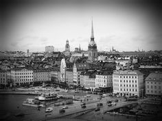 Stockholm. Black and white