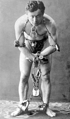 The escape artist Harry Houdini. #HarryHoudini