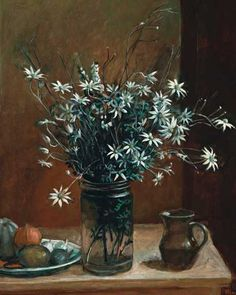 Paintings - Margaret Hannah Olley - Page 3 - Australian Art Auction Records Australian Painters, Australian Artists, Margaret Preston, Flannel Flower, Still Life Artists, Fruit Painting, Flower Oil, Watercolor Flowers, Watercolour