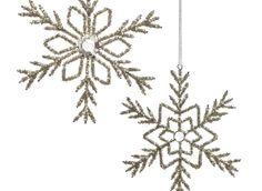 Z Gallerie - Beaded Snowflake Ornaments