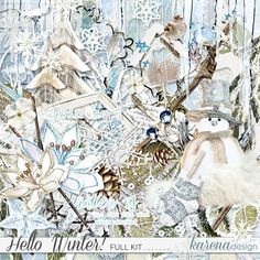 Hello Winter, Winter Collection, Digital Scrapbooking, Kit, Shop, Painting, Design, Paintings