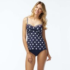 0c1776047b Beach House Swimwear Gwyneth Twist Dotted Admiral Tankini Top Block Island, Tankini  Top, Swim