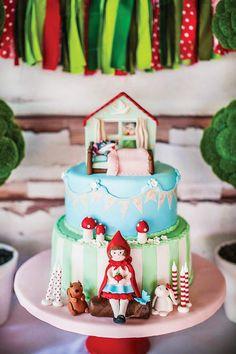 Enchanting Little Red Riding Hood Cake