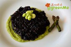 riso venere crema di asparagi e fave
