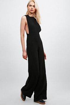 Solace Sterling Jumpsuit in Black - Urban Outfitters #jumpsuit #black #urbanoutfitters #covetme