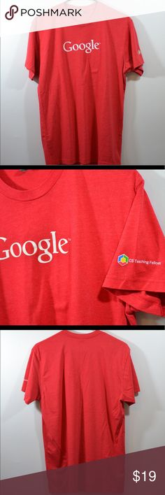 """Google T Shirt Google T Shirt. Size Medium with measurements in inches. Length:27.5"""",Chest:19"""",Sleeve:7.5"""" Tops Tees - Short Sleeve"""