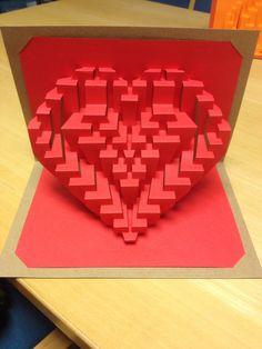Mi corazón Tarjeta de San Valentín Plantilla DIY Heart O 'por Ullagami en Etsy