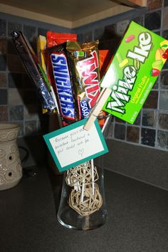 Gift for husband, candy bar bouquet