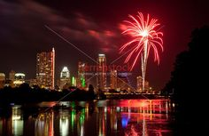 austin downtown 4th july fireworks