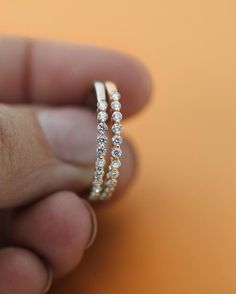 These stackable rings need you like fall needs pumpkin spice lattes! Conflict-free bands shown with natural recycled diamonds in 14K White Gold and 14K Rose Gold.