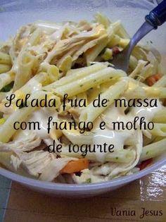 Receitas - Salada fria de massa com frango e molho de iogurte - Petiscos.com