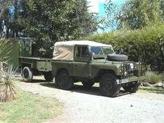Land Rover Series IIA Soft top canvas trailers.