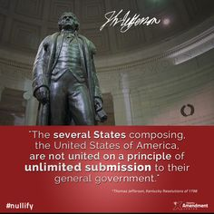 Thomas Jefferson for the Kentucky Resolutions - passed Nov. 10, 1798