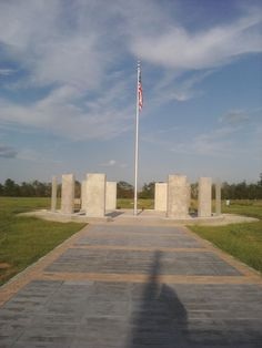 The Veteran's Memorial..in progress..in Paris, Tx. Along the way, it is paved with service men and women's names...lots of work still to be done