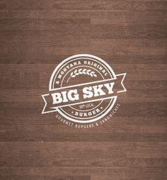 Big Sky Burger :: Logo development :: by Chris McCormick :: http://chrismdesigns.com :: @ChrisMDesigns