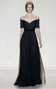 Jenny Packham ink blue silk gown worn October 24, 2013 for 100 Women in Hedge Funds dinner