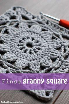 Raad met draad: Haakpatroon Finse granny square