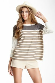 Boatneck Pullover Sweater by Go Couture on @HauteLook